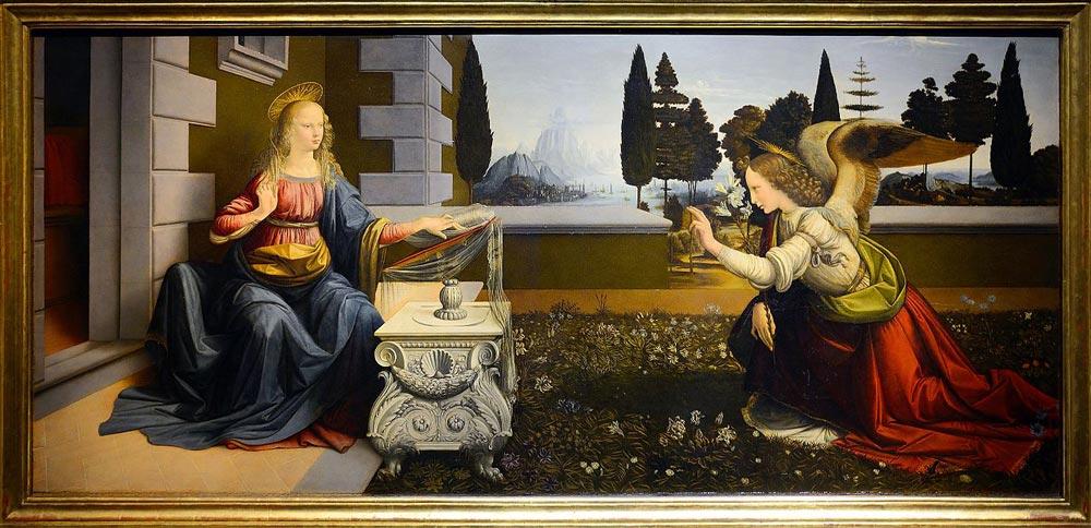 La Anunciación, de Leonardo da Vinci
