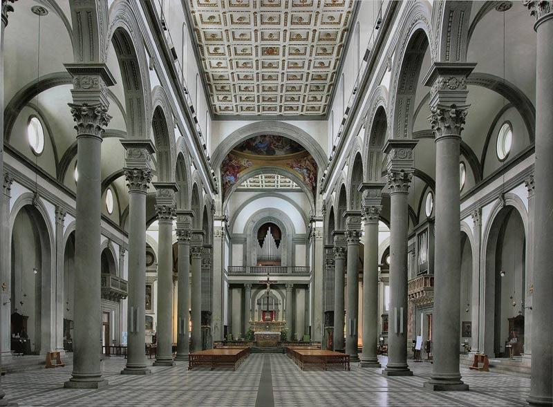 Bas lica de san lorenzo en florencia italia for Interior iglesia san lorenzo brunelleschi