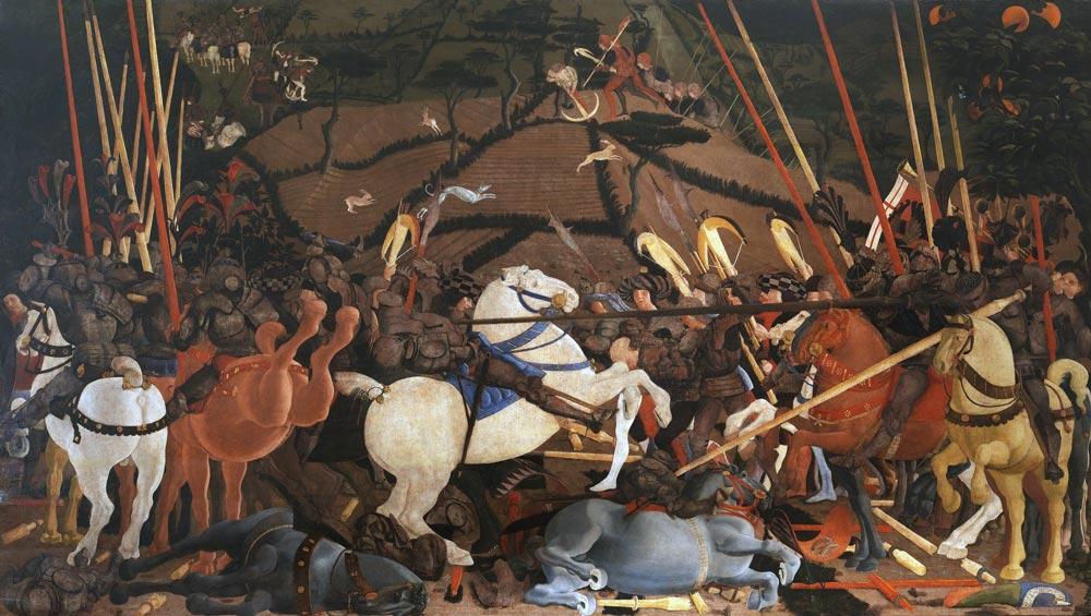 La Batalla de San Romano de Paolo Uccello