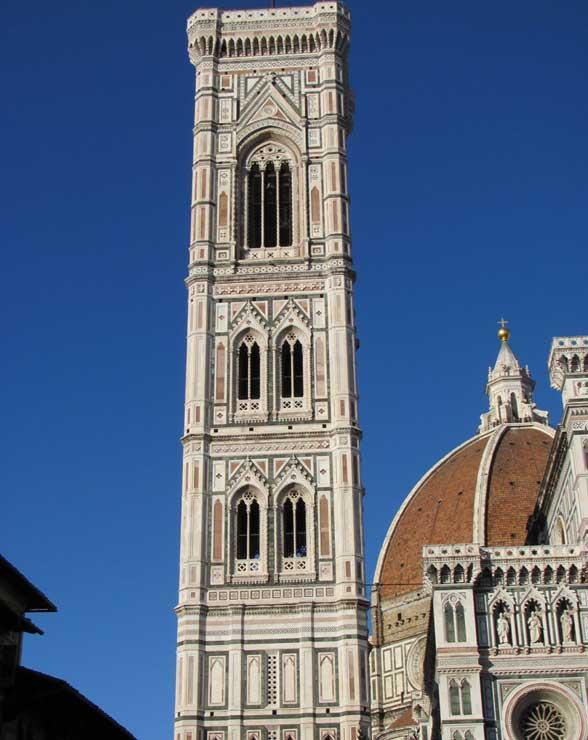 La torre campanario de la iglesia Santa María del Fiore, El campanile O campanario de Giotto