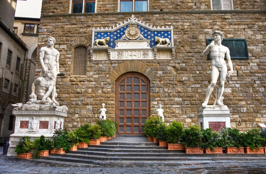El exterior del Palazzo Vecchio