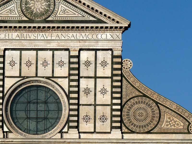 La fachada de Santa María Novella