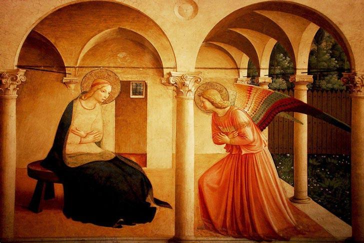 fresco de la Anunciación