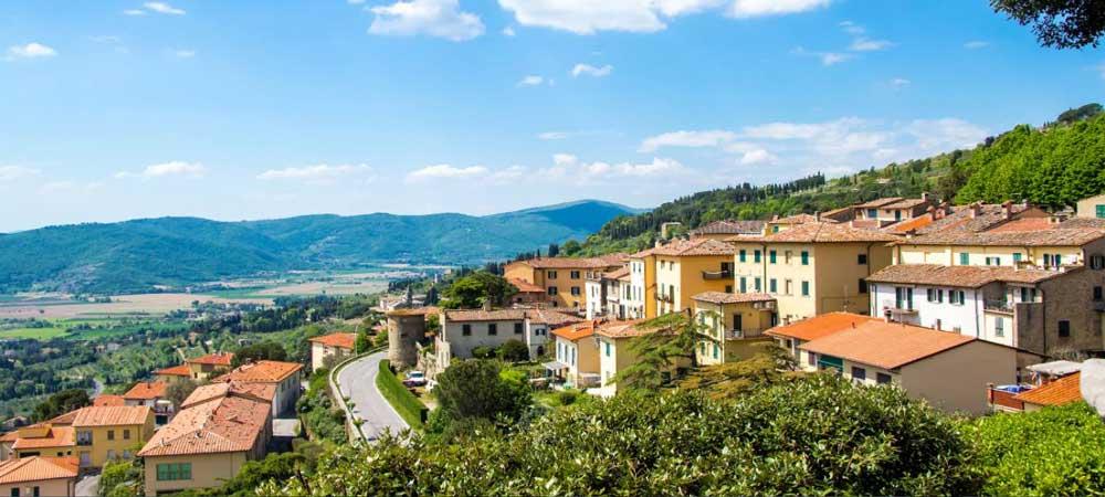 hoteles en Cortona