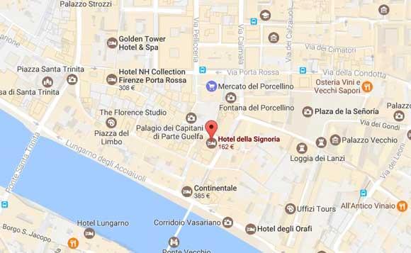 mapa-hotel-della-signoria