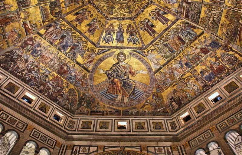 Mosaico de la cúpula del Battistero