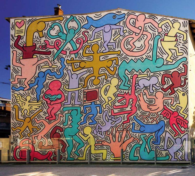 """El mural """"Tuttomondo"""" de Keith Haring"""