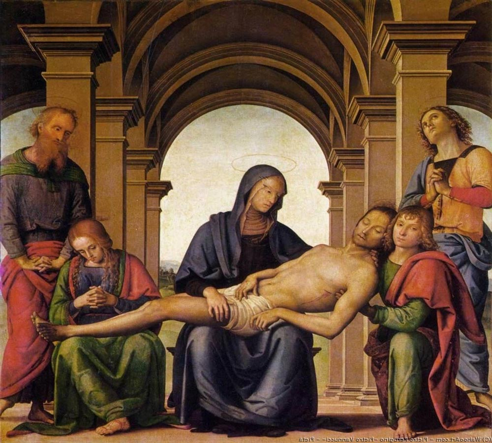 Piedad, obra de Perugino (1494). Uffizi. Florencia