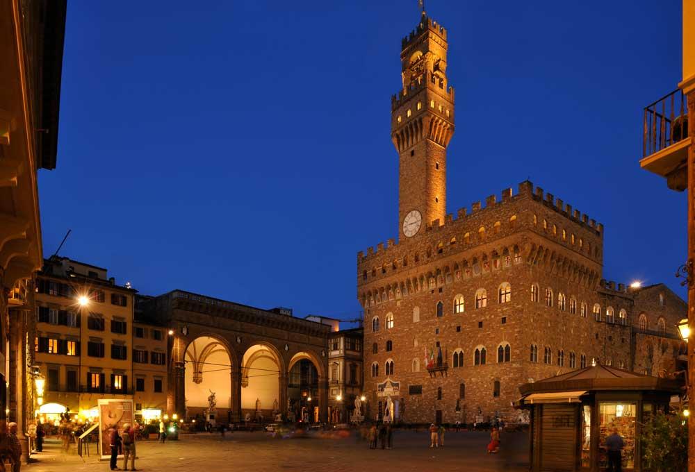La plaza central de Florencia - Plaza de la Señoría